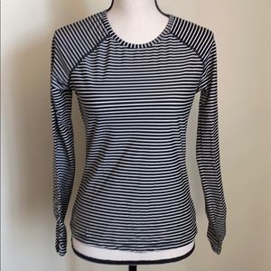 ATHLETA  striped long sleeve top size S